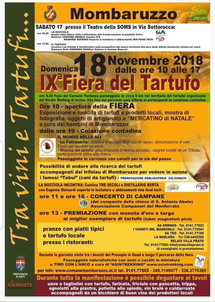 Fiera del Tartufo Mombaruzzo 2018
