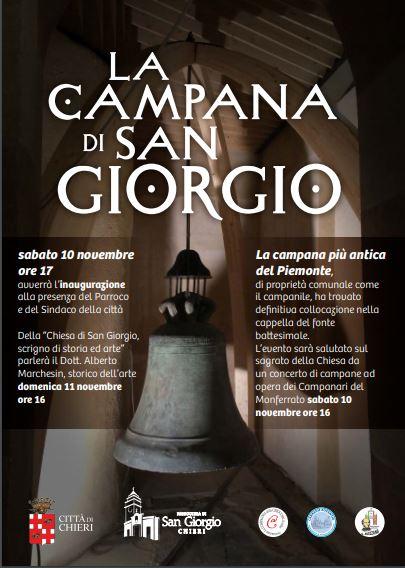 Chieri e la campana più vecchia del Piemonte