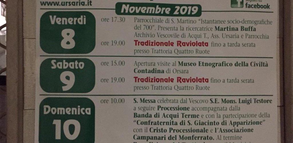 10 novembre San Martino a Orsara Bormida